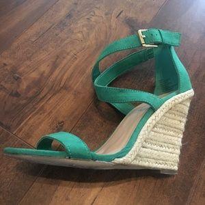 Green Wedge Sandal worn1X